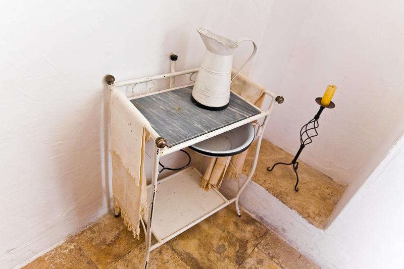 Antico catino lavamani con brocca