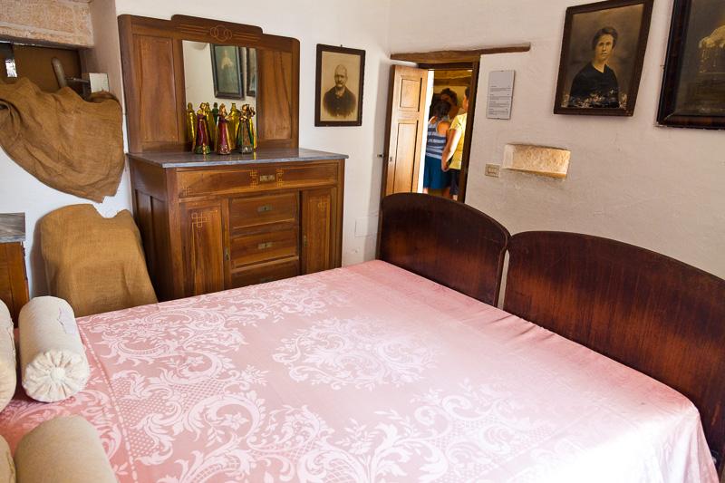 La camera da letto del Trullo Sovrano