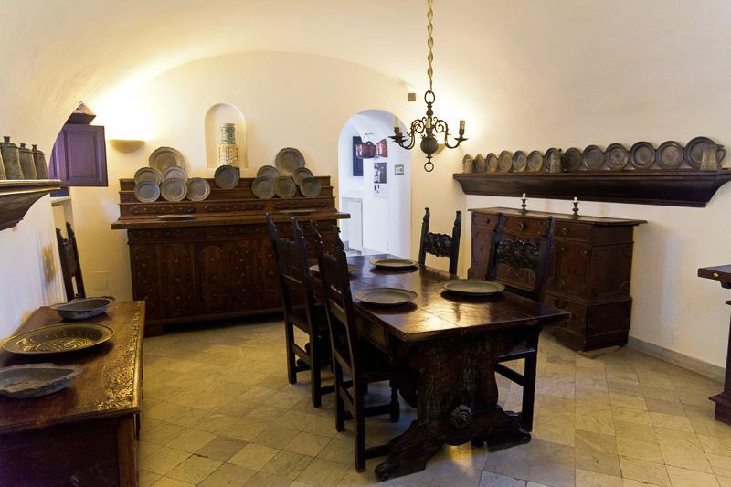 La sala da pranzo di Villa San Michele
