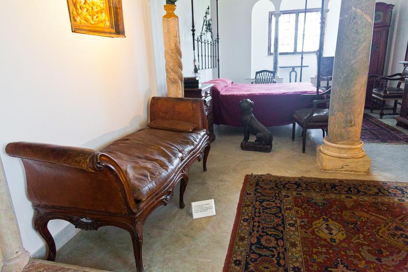 La camera da letto di Villa San Michele
