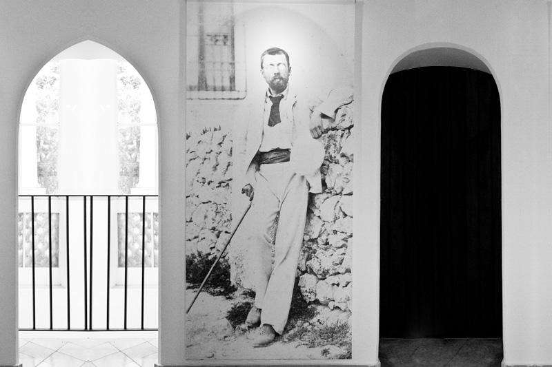 Un ritratto in bianco e nero di Axel Martin Fredrik Munthe