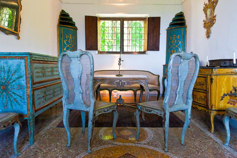 Il salone veneziano di Villa San Michele