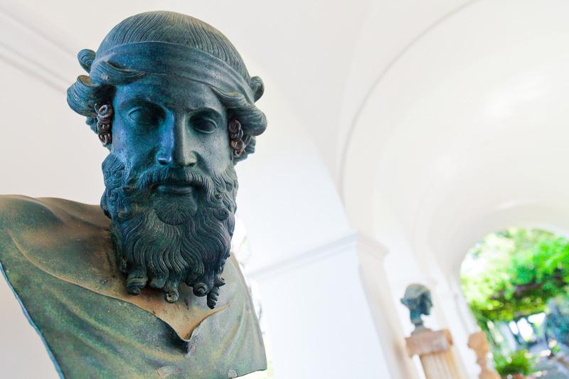 Il mezzo busto in bronzo di Dioniso