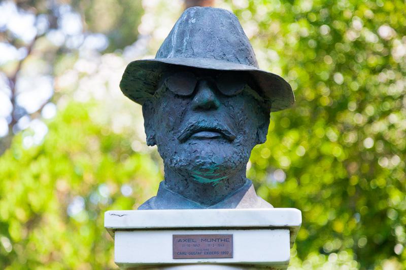 Scultura in bronzo del volto di Axel Munthe