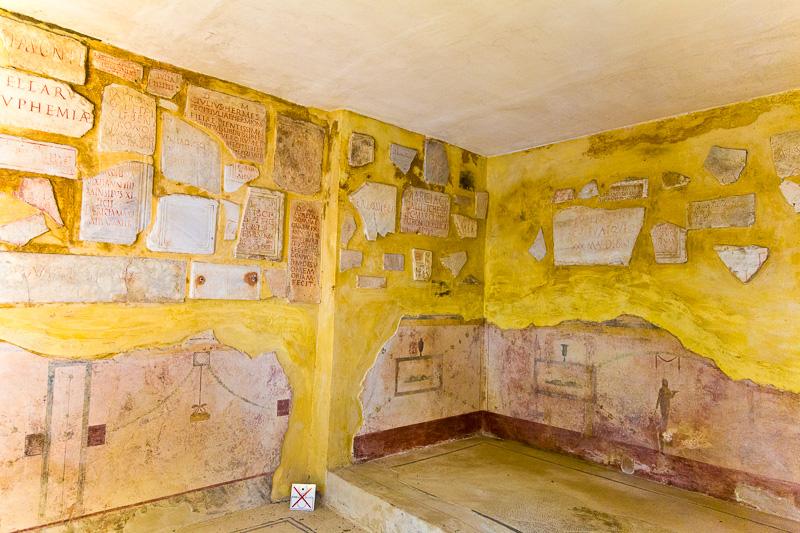 L'interno di un cubicolo della roma imperiale