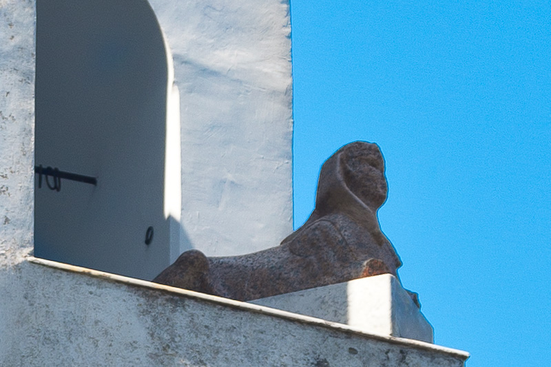 La sfinge egizia della Villa San Michele