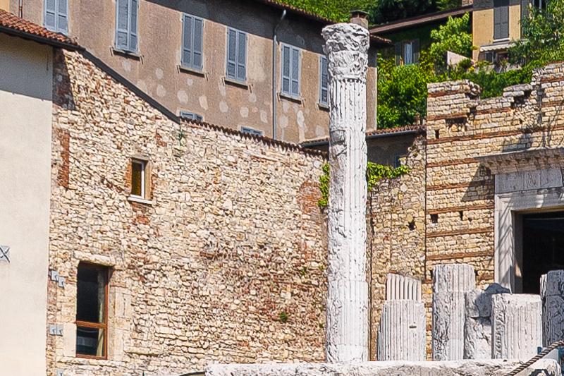 La colonna integra del tempio Capitolum