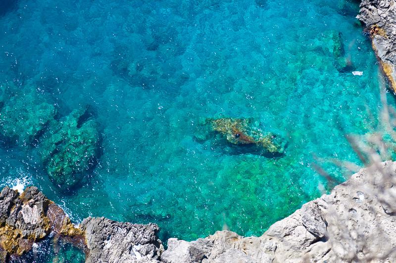 Il mare verde/azzurro cristallino