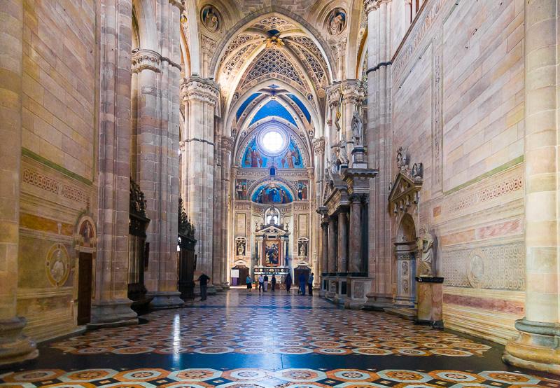 Il transetto della Certosa delle Grazie