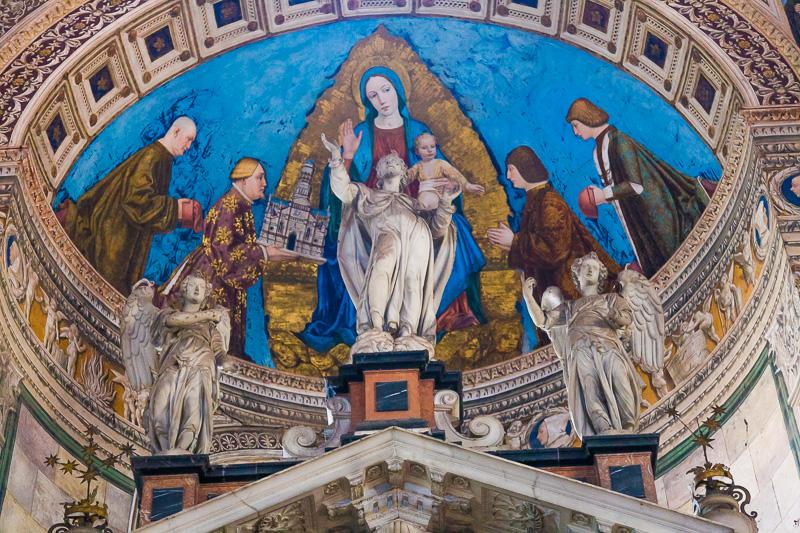 Gian Galeazzo Visconti che presenta alla Vergine con bambino il modello della Certosa