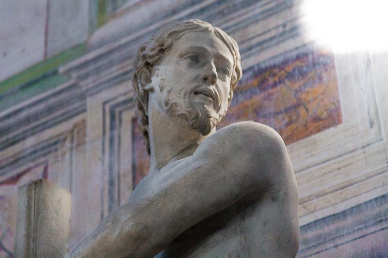 Il volto di Gesù legato alla colonna