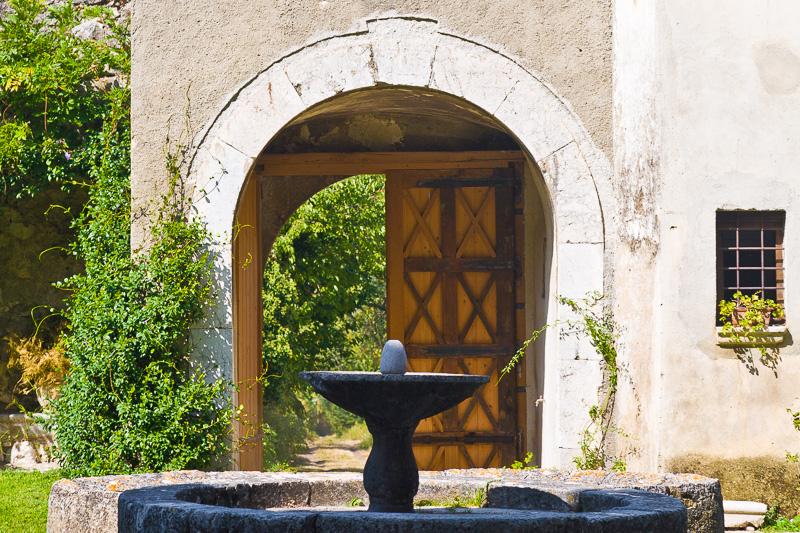 Il cortile di palazzo Marchesale Caracciolo