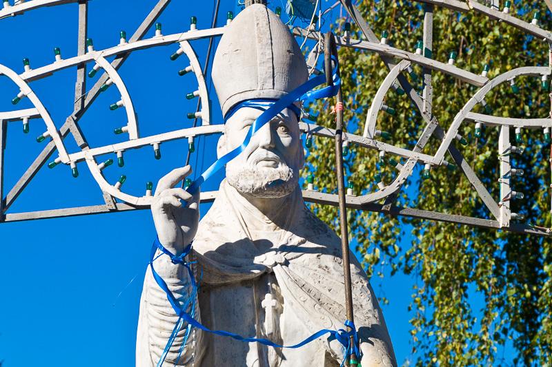 Statua in marmo di Sant'Adiutore Vescovo