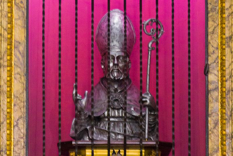 Busto in argento di San Giustino
