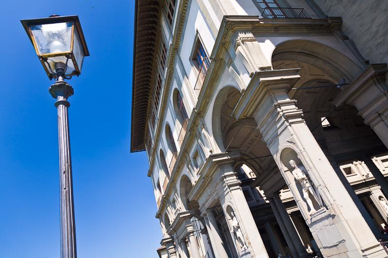Il loggiato del palazzo della galleria degli Uffizi