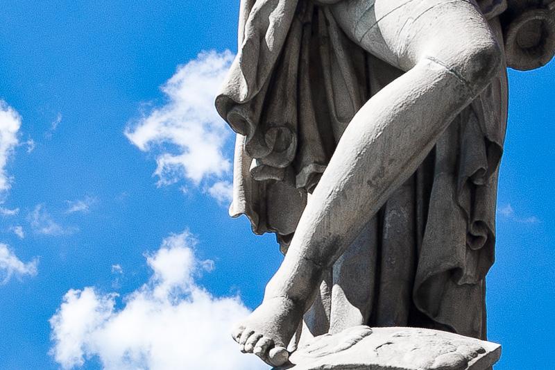 La statua raffigurante l'Estate