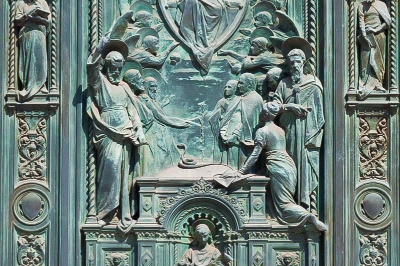 La porta della cattedrale di Santa Maria del Fiore