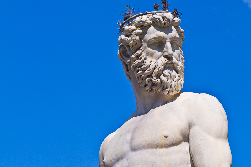 Il volto del Nettuno di Bartolomeo Ammannati