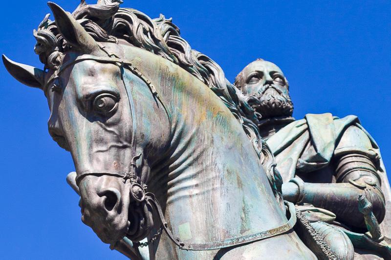 La statua equestre di Cosimo I de' Medici