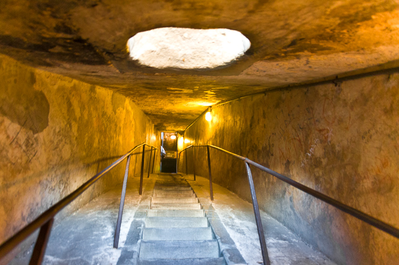 La scalinata dell'intercapedine della cupola del Brunelleschi
