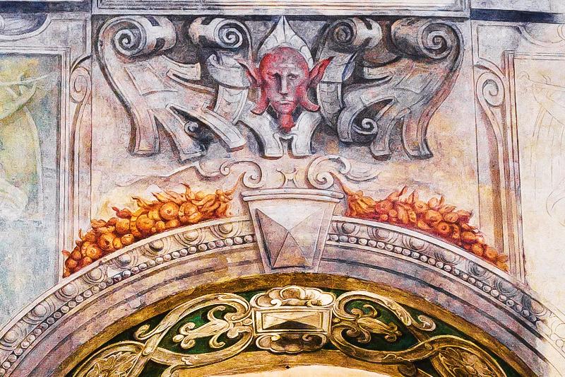 Affresci sulla facciata di Palazzo di Angelo Giovanni e Giulio Spinola