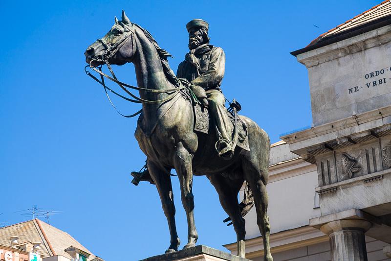 Il monumento equestre di Giuseppe Garibaldi