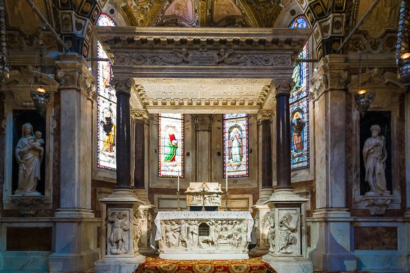 La cappella di San Giovanni Battista nella cattedrale di San Lorenzo