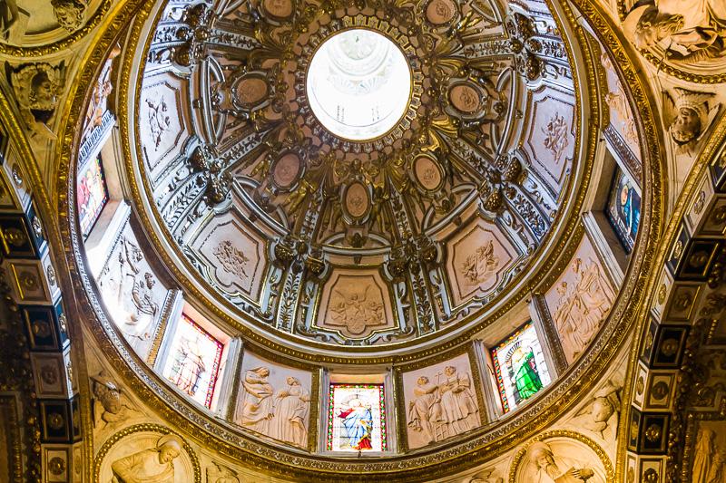 La cupoletta della cappella di San Giovanni Battista