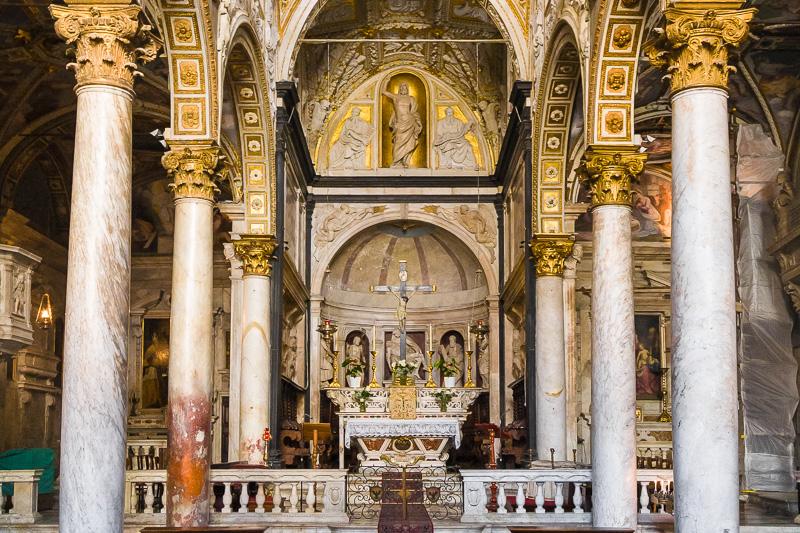 Interno della chiesa di San Matteo