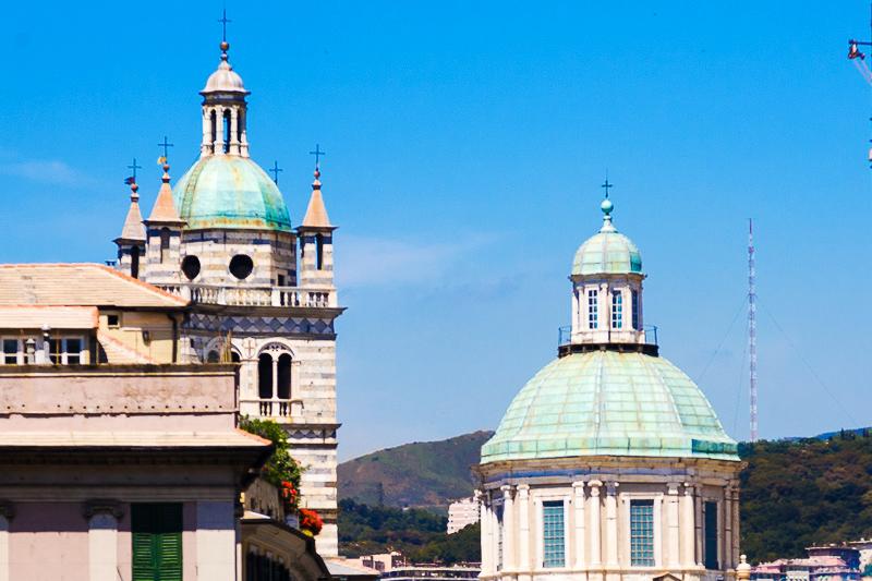 Il campanile e la cupola del Duomo di San Lorenzo