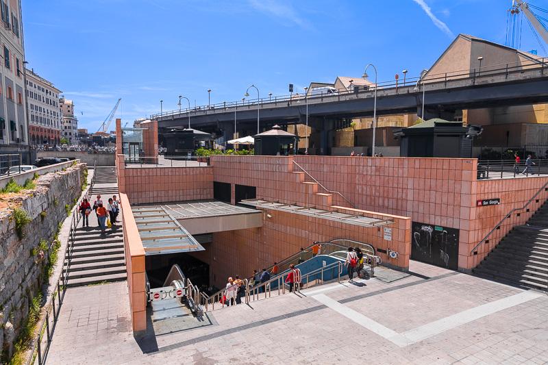 La stazione San Giorgio della Metropolitana