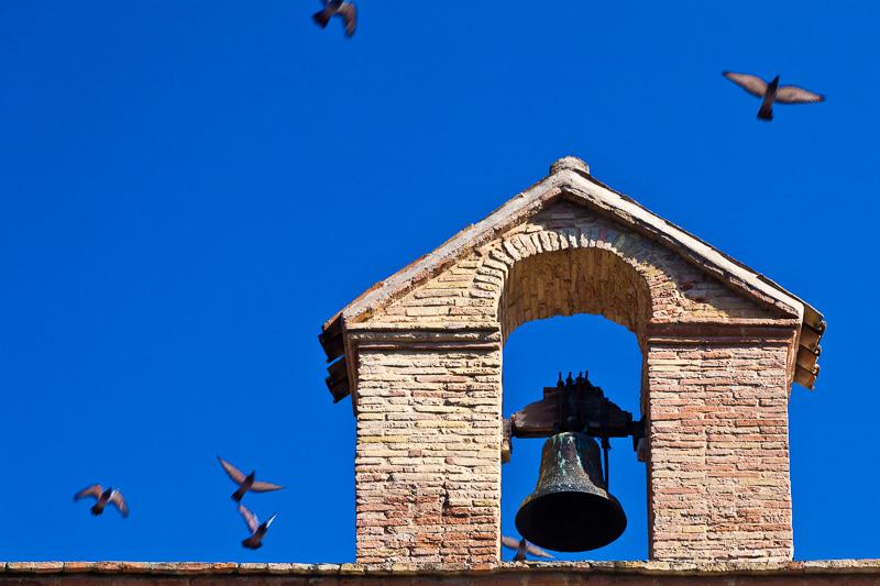 Il campanile della chiesa di Santa Maria delle Grazie