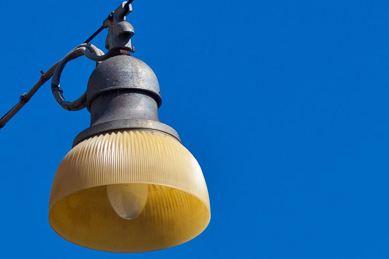 Vecchio lampione stradale