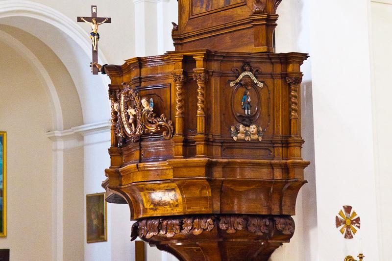 Il pulpito della chiesa di Santa Maria Maggiore