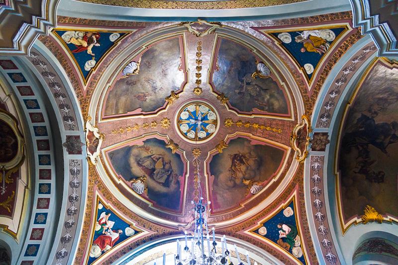 La calotta centrale della chiesa di Sant' Antonio di Padova