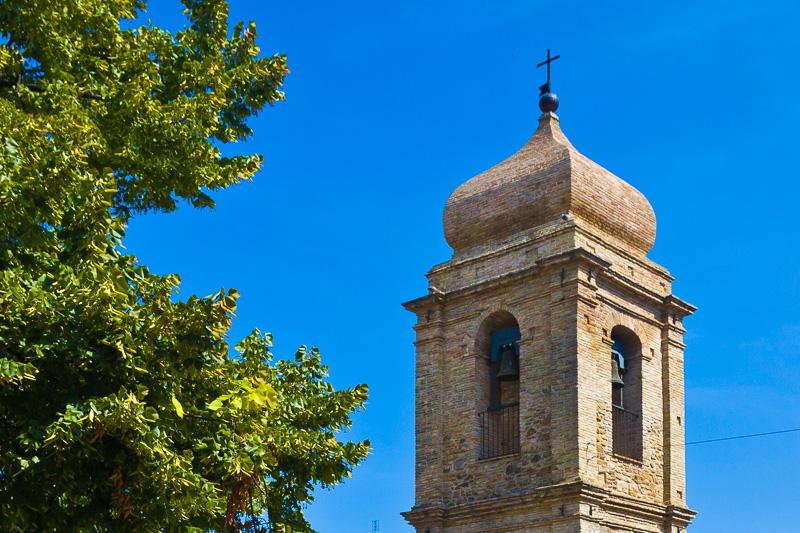 Il campanile della chiesa della Madonna del Santissimo Rosario