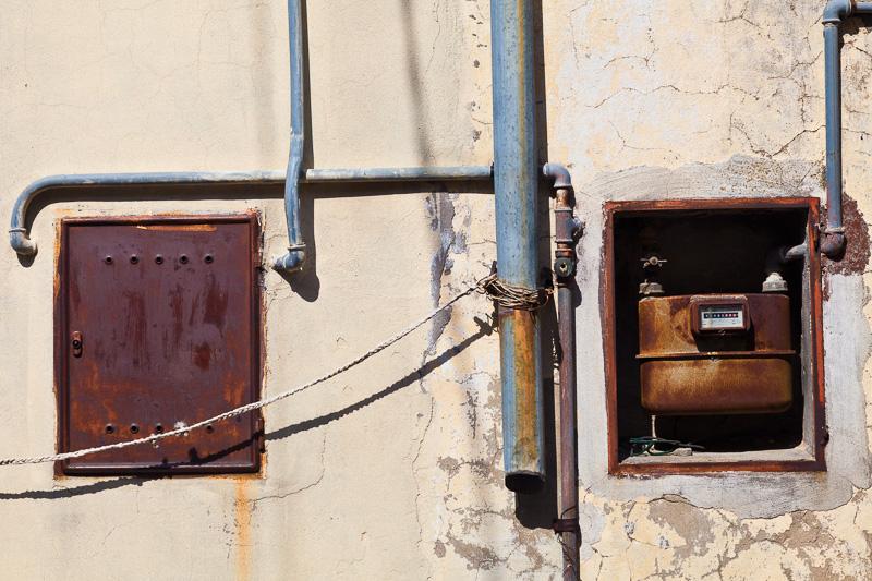 Un vecchissimo contatore del gas