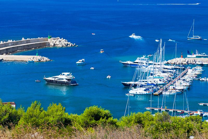 L'area portuale di marina di Leuca
