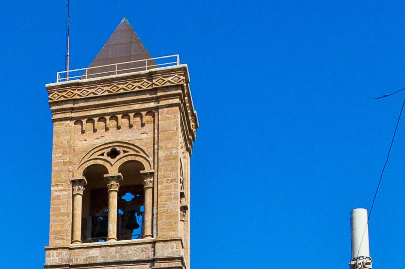 Il campanile della chiesa di Cristo Re