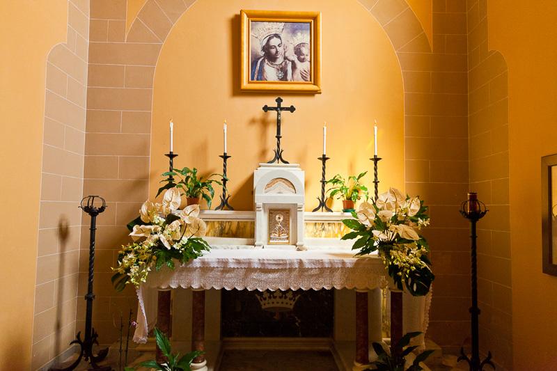 Una cappella nella chiesa di Cristo Re
