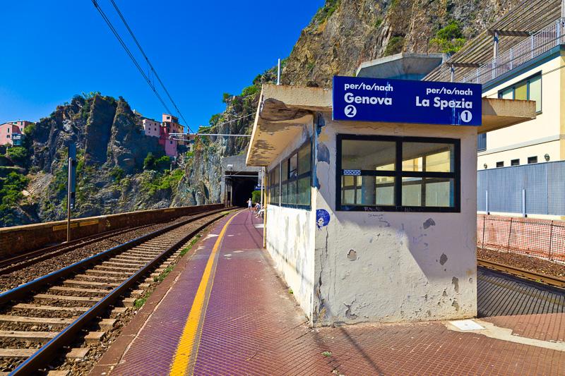 La stazione ferroviaria di Manarola