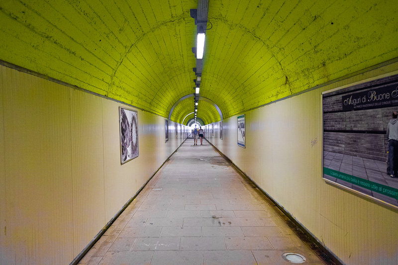 La galleria pedonale della stazione