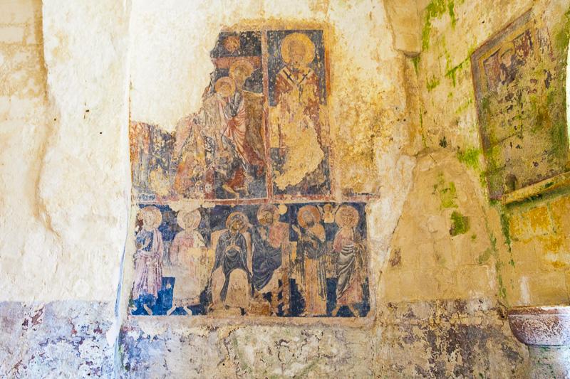 Affresco nella chiesa rupestre di Santa Lucia alle Malve