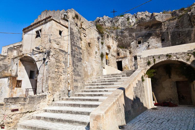 Gli scalini di via Santa Maria de Idris