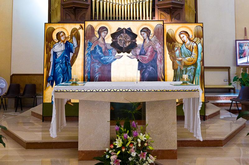 Altare della parrocchia di San Rocco