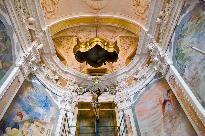 Il crocifisso della chiesa di San Giovanni Battista