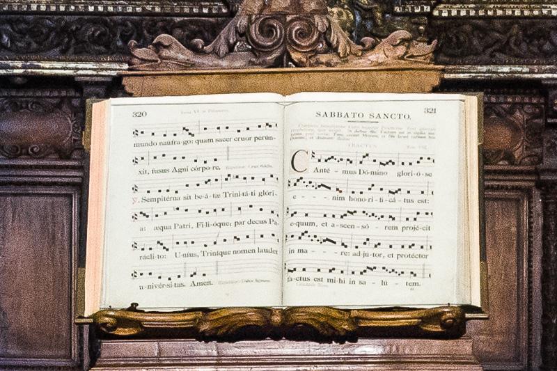 Un antico spartito musicale