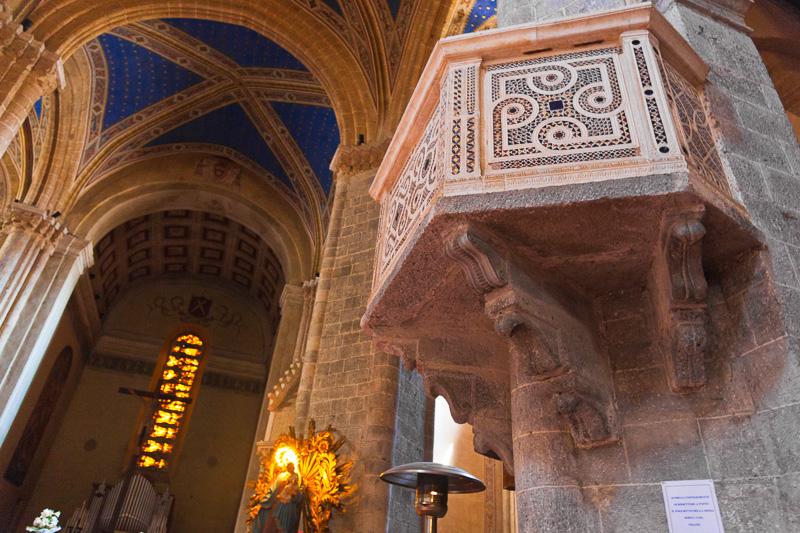 Il pulpito della chiesa di Sant'Andrea