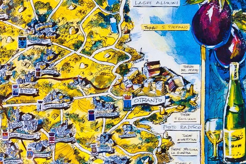 La mappa della costa di Otranto