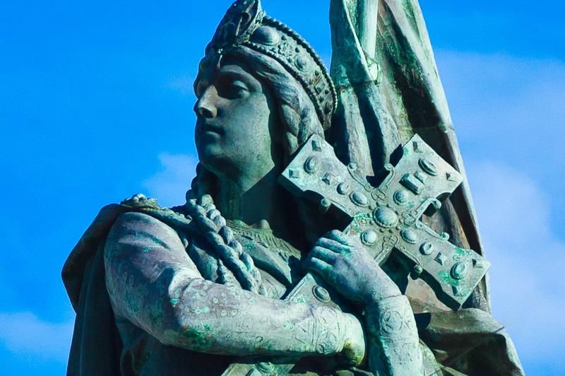 La statua intitolata ai Martiri di Otranto